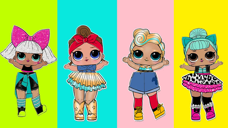 LOL Surprise Dolls Dress Up for girls. Halloween Costumes