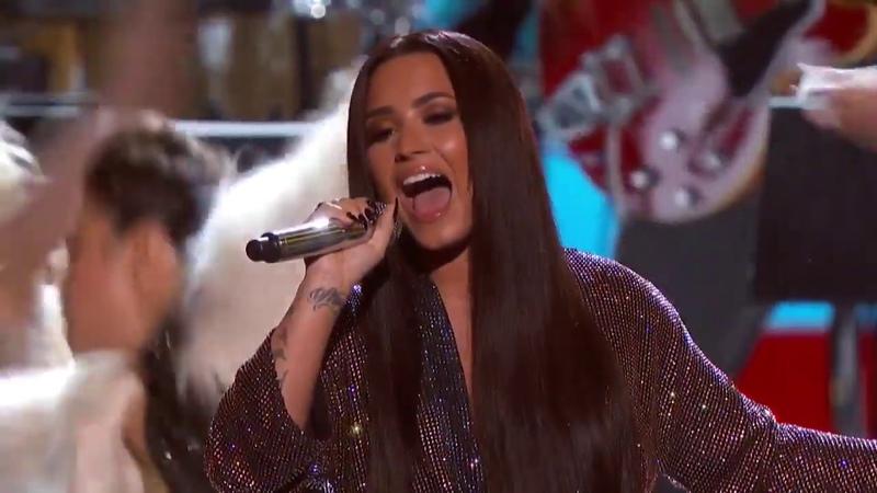 Demi Lovato Stayin' Alive Live On 59th GRAMMY Awards
