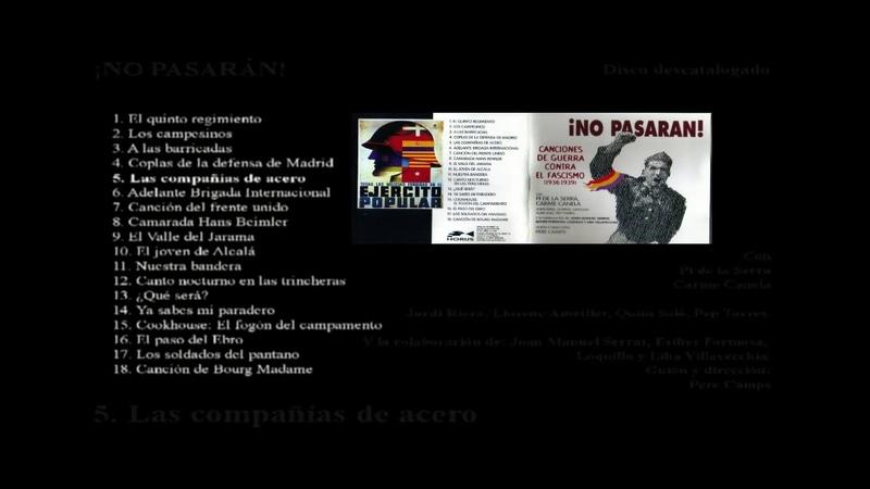 Espanha ¡NO PASARÁN Canciones de la Guerra Contra El Fascismo 1936 1939
