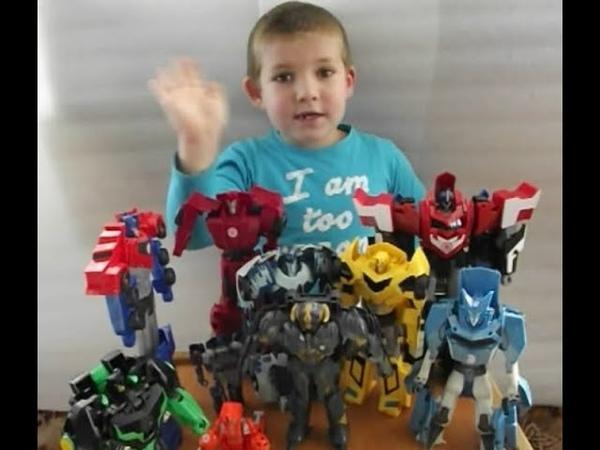 Бамблбі та його команда трансформерів Автоботів. Bamblebee transformers video for kids