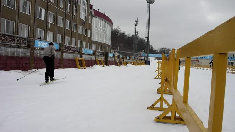 На Биатлоне катались на лыжах с Владиславом 22 02 2020 г ( 2 часть )