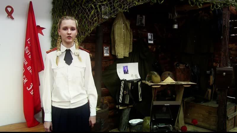 Экспозиция Блиндаж в школьном музее