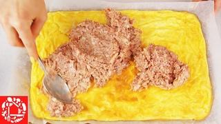 Этим рецептов вы покорите Мир… и свою Семью!  Сырный рулет с мясом на Праздничный стол