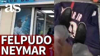 PSG | NEYMAR, de felpudo en una tienda del OLYMPIQUE de MARSELLA | DIARIO AS