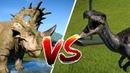Битва динозавров. Синоцератопс против Барионикса. Jurassic World Evolution