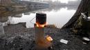 Походная печь щепочница ракетная