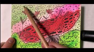 Watercolor speedpaint TIME-LAPSE