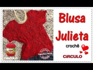 Blusa Julieta croche - Renata Vieira Croche