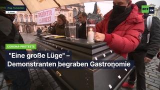 "Prag: ""Eine große Lüge"" – Protest gegen Corona-Politik"
