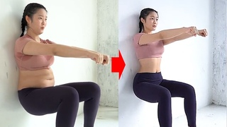 45-day process of losing weight of belly fat girl
