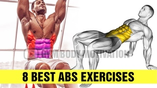 8 ABS EXERCISES for SIX PACK - Gym Body Motivation