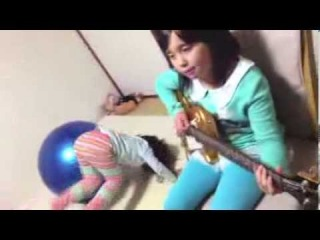 ROCKSMITH2014 Audrey (9 years old) Plays Guitar - R U Mine? - Arctic Monkeys