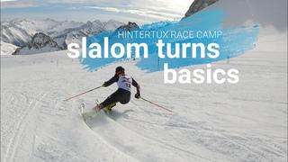Ski Slalom carved turn basics, visual learinig