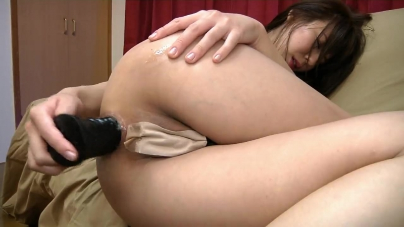Asian Schoolgirl Riding Dildo