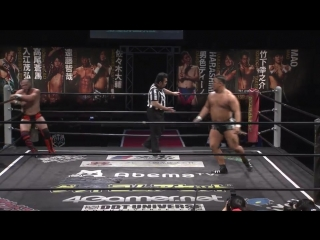 Katsumata Shunma, Yuki Ino vs. Jason Kincaid, Michael Wolf (DDT Live! Maji Manji #20)