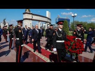 В Грозном Михаил Мишустин посетил Мемориальный комплекс славы имени Ахмата Абдулхамидовича Кадырова