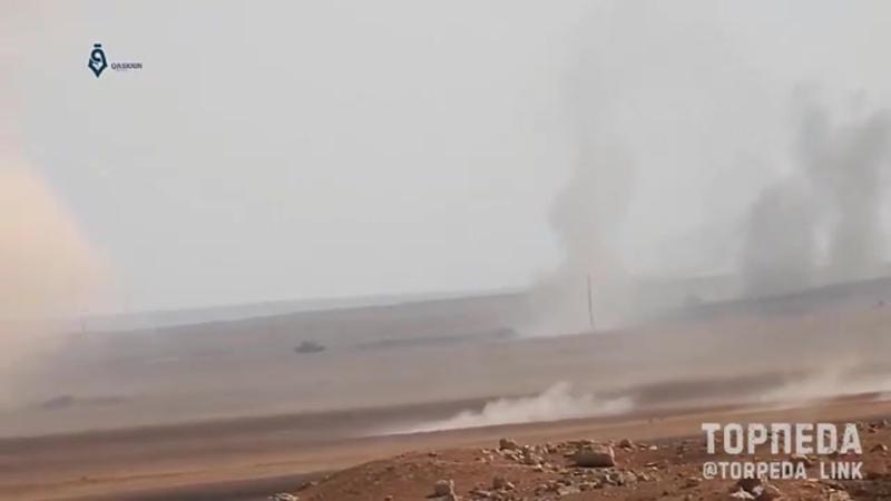 Два танка САА работают прямо перед позициями оператора бармалеев Сирия 💥
