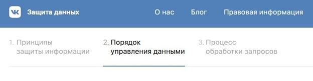 Политика конфиденциальности в Вконтакте