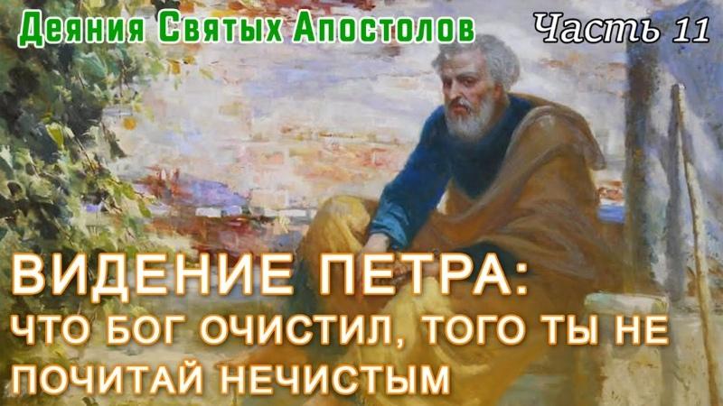 Видение Петра Что Бог очистил того ты не почитай нечистым