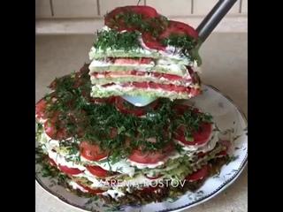 Очень вкусный кабачковый тортик!