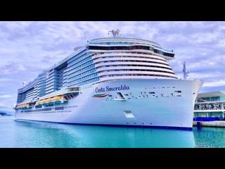 Видеообзор новейшего круизного лайнера Costa Smeralda круизной линии Costa