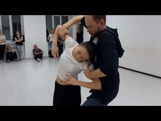 Brazilian Zouk | Vladislav & Natalia | Demo after classes | Студия танца 4DANCE
