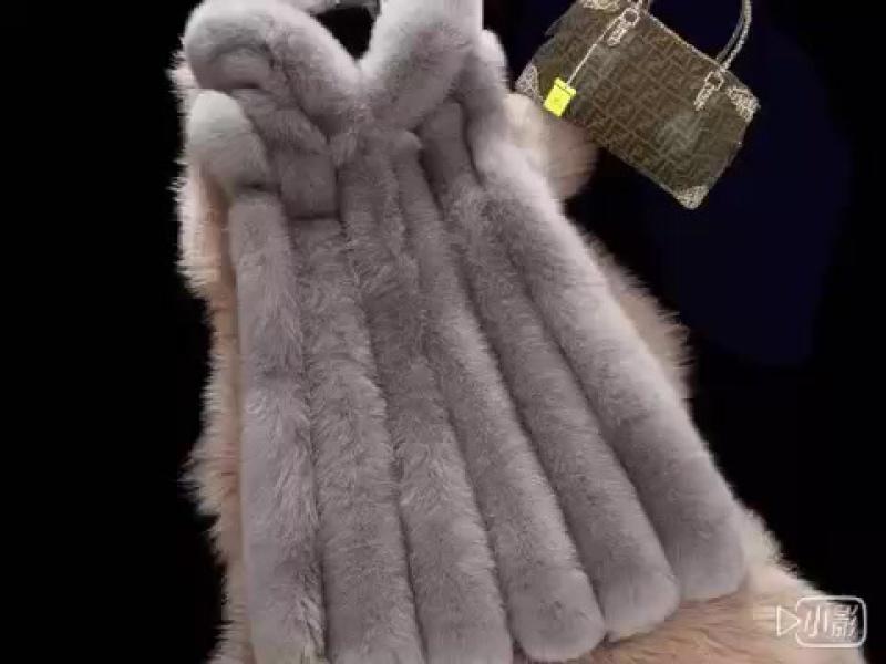 Зима Теплая Женская Мода Искусственного Меха Жилет Из Искусственного Шуба Лисий Мех Длинный Жилет