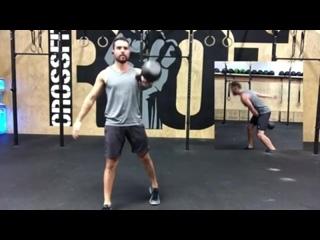 Marcus Martinez  Kettlebell cardio session