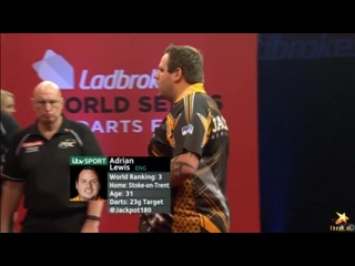 Adrian Lewis vs Dave Chisnall (PDC World Series of Darts Finals 2016 / Quarter Final)