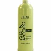 Шампунь увлажняющий для волос с маслами авокадо и оливы STUDIO PROFESSIONAL