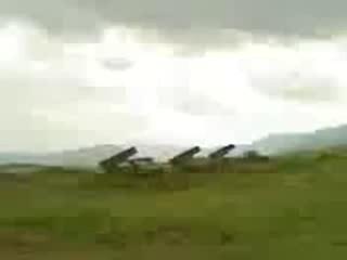 Залп Реактивно-Артиллерийского Дивизиона 212 полка БМ-21 Град