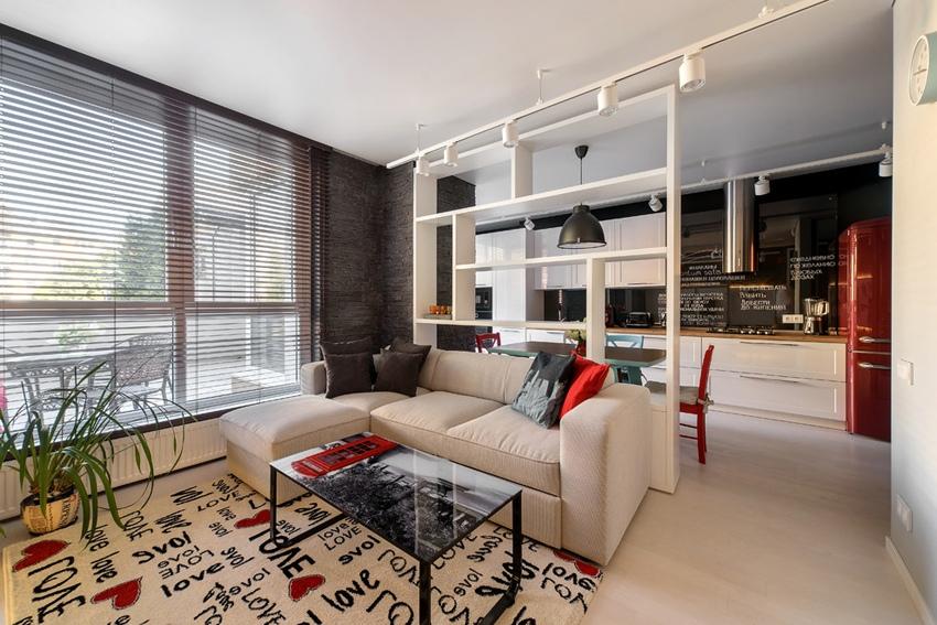 Интерьер студии 45 м из 1-комнатной квартиры в Калининграде.