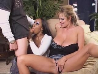 Sandi Jackmon and Kelly Madison [Porn, MILF, Mature, Busty, Ebony, Black, Big Ass, Big Tits, Interracial, Blowjob, Hardcore]