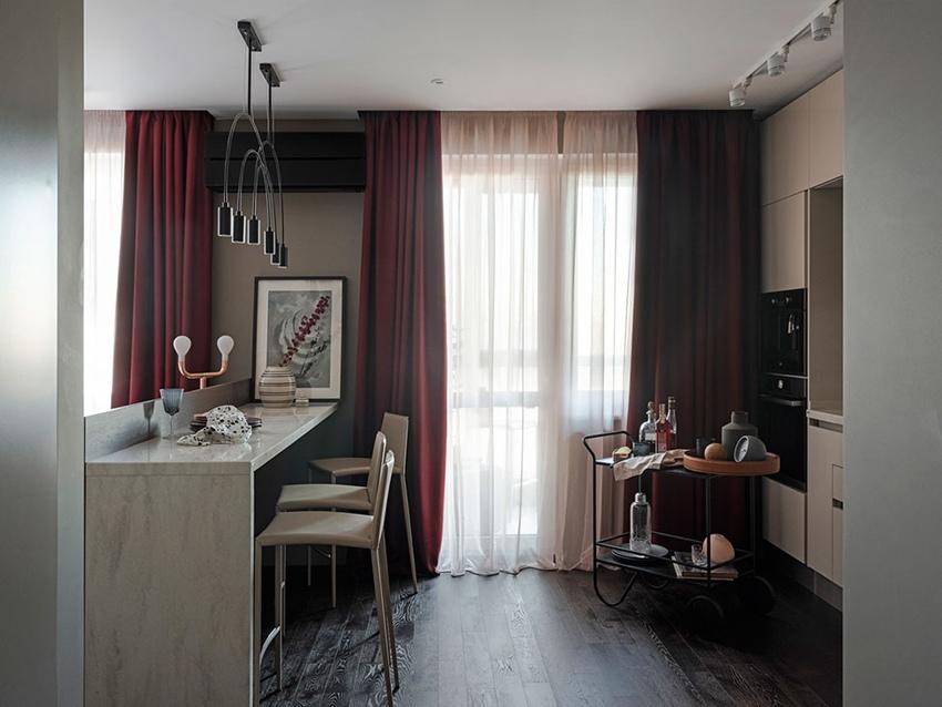 Интерьер квартиры 45 м в Москве.