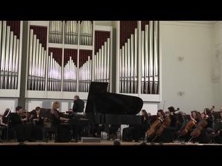 Горохова Д. Рахманинов Концерт для фортепиано с оркестром №1 fis-moll ( I часть)