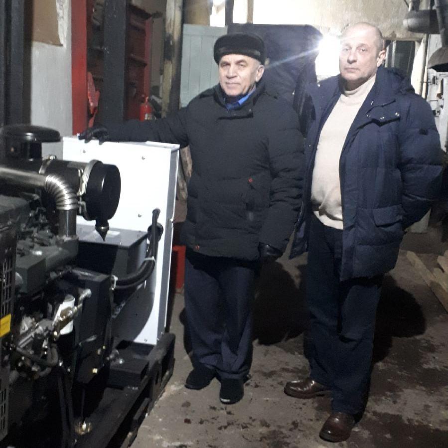 В поселке Едва установлен дизель-генератор для котельной