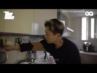 (РУС САБ) Рецепт сукияки от Кида Милли (готовка, еда в одиночестве, MBTI, Show Me the Money) - GQ Korea Kid Milli