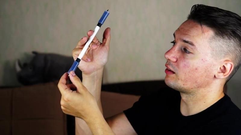 Ланц С чего НАЧАТЬ пенспиннинг САМЫЙ ПЕРВЫЙ трюк с ручкой Fingerpass ПЕНСПИННИНГ для новичков