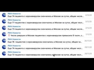 Как в Москве фальсифицируют смертность от ковида