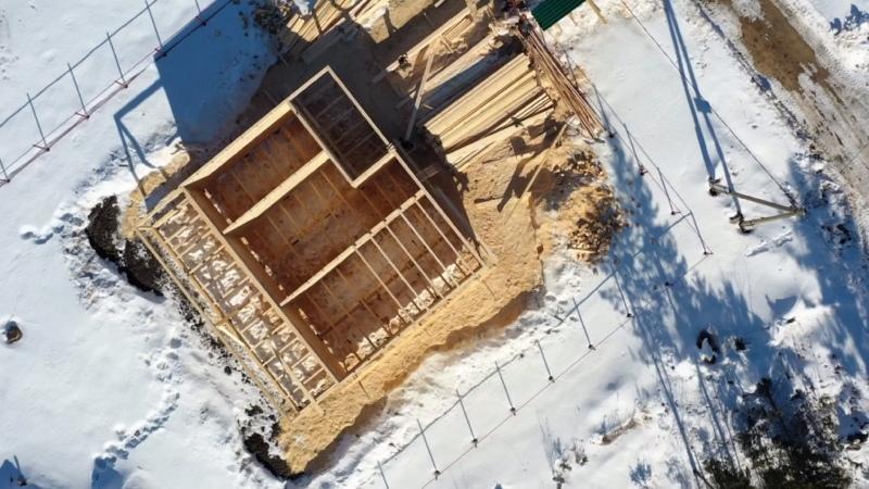 Строительство дома 12х12 из бруса. Коробка почти готова