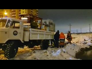 А вот и само место аварии в Деме. Ул. Генерала Кусимова, тут будет дорога, которую строит АО «Башкиравтодор».