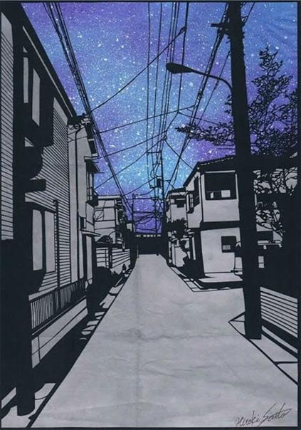 Интересно.Это не фото и не живопись это вырезано из бумаги Когда люди смотрят напоразительные произведения Хироки Сайто (Hiroi Saito), они задаются вопросом: это картина или фотография Насамом