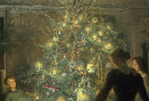 Вигго Юхансен «Светлое Рождество», 1891 год Картину написал художник Вигго Юхансен, который родился и всю жизнь прожил в Дании, где и проникся духом Рождества. Страны Скандинавии издавна уделяли
