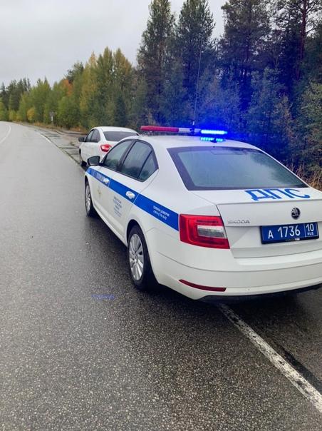 14 сентября  в 07:19 на 721 км. автодороги «Санкт-Петербург  Мурманск» инспекторами ДПС остановлен для проверки