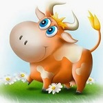 Коровы и быки в веселых загадках для детей