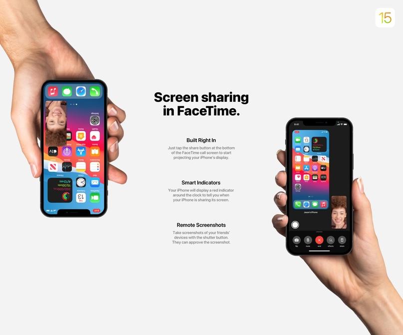 50 нововведений iOS 15 показали в новом концепте, изображение №5