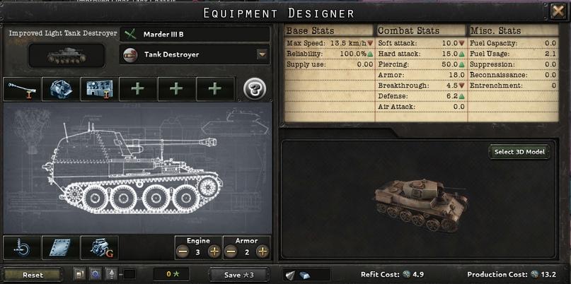 Дневник разработчиков Hearts of Iron IV — Конструктор танков, изображение №4