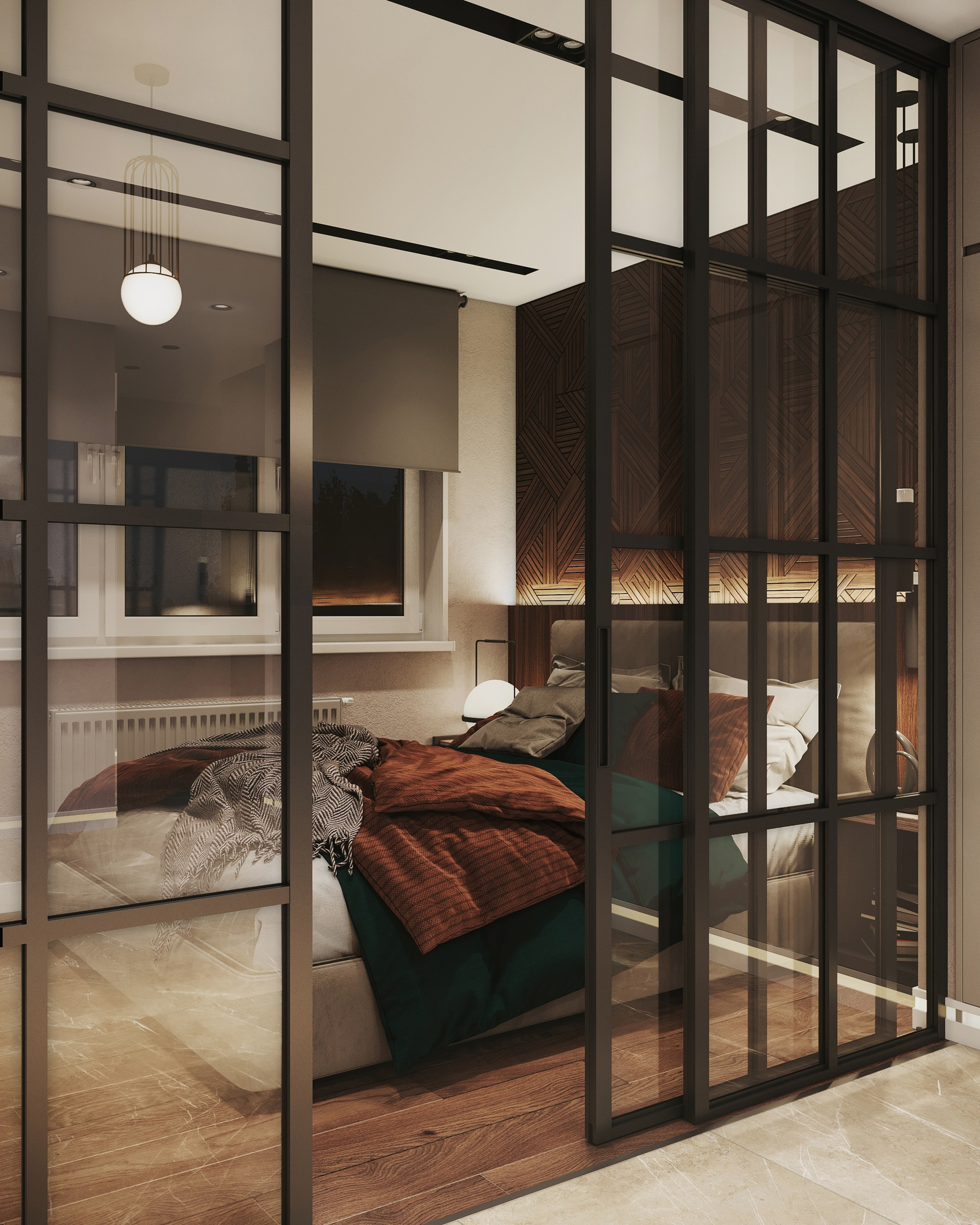 Проект современной квартиры-студии 28 кв.