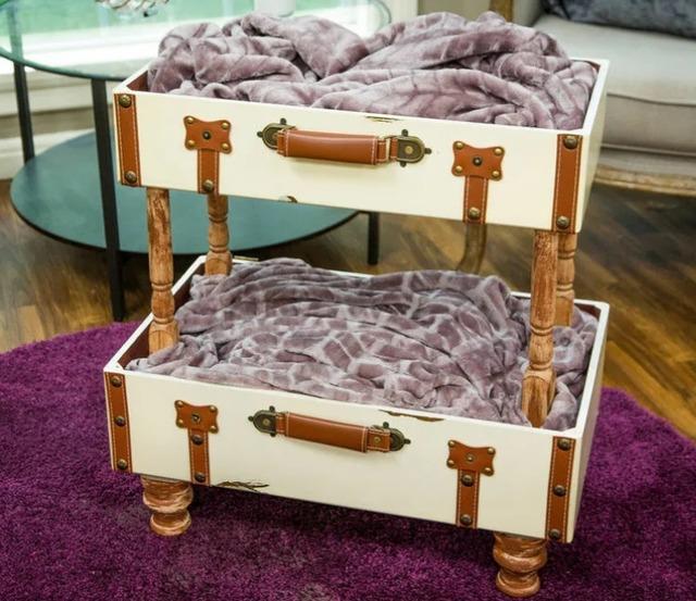 Лежанка для питомца из чемодана своими руками, как сделать кроватку для кошки из старого чемодана своими руками мастер-класс,