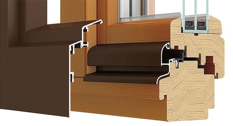 Алюминиевые накладки на деревянные окна
